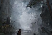Fantasy illustrations / Anime, wallpaper, animation, fantasy, art, concept art, steampunk