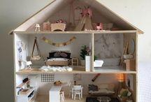 casa de boneca madeira