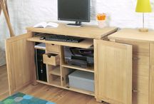 Home Office Design / How to create a home office which is practical to use when needed but also allows for everything to be hidden away out of sight when you are not working.