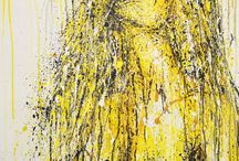 Mark Vice Art: Yellow/Ochre/Mustard Artwork / A selection of my pieces where the predominant colour is Yellow/Ochre/Mustard