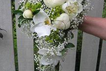 Inspirasjon bilder til dråpeformet brudebukett