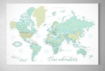 ~ NEW push pin maps ~ large and detailed push pin maps ~ New colors!