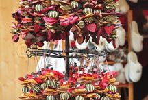 Dried fruit garland