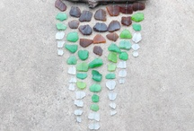 seaglass and driftwood