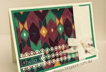 Bohemian Borders Card Ideas / by Laurie Graham: Avon Rep/Stampin' Up! Demo