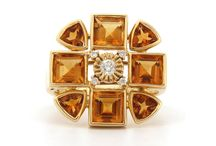 Sacred Flower Collection / Geometry fused with nature this collection is made from 18 karat yellow gold, Citrine and Diamonds