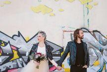 A grunge style wedding