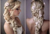 Hair and makeup we love!  / Hair styles to suit any wedding theme. Make up to make any bride glow...