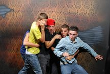 Scared Bros at The haunted house! Hilarious