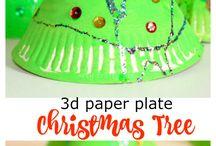 vánoční stromeček z tácku