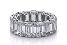 Eternita / These unique eternity bands are custom made based on the cut, clarity, carat and color. Pricing varies depending on these choices and the metal (14k or 18k gold, or platinum).