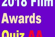 The 2018 Film Awards Quiz / http://effectivefirearms.com/app.html has links to all major app stores for five categories of Film Awards Quiz apps, designated by the letter: Actors, Directors, Cinematographers, Editors, and African Americans. Each has a set of questions and answers about movies and Oscar nominees in that category.