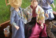 Mummo / 1:12 Porcelain doll by Taru Astikainen