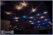 LED lighting / fiber optic lighting, LED lighting, decorative lighting, chandeliers fiber, stretch ceilings, lamps, arrangements, inspiration, interior decorations.