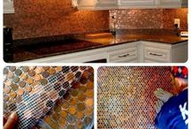 Decorating With Pennies / Projects to do around the house with Pennies