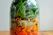 Einmachglas-Salate