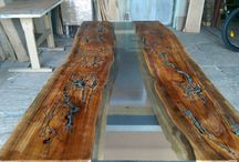 Dining table solid wood / Dining and coffee table solid wood natural, My pieces are handmade.