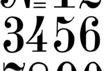 bokstäver & siffror mm