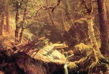 Albert Bierstadt Oil Paintings / Albert Bierstadt (1830 - 1902) American painter. His most famous work is the panoramic view of the Rocky Mountains.