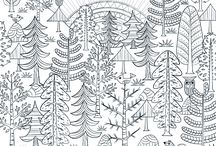 Szinezés - erdő