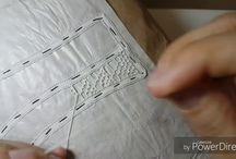 Renda de agulha tutoriais