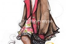 children fashion illusration