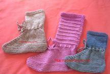 sapato de trico e crochê para adultos