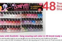 Great Nail Products / Confetti Nail Color, Vida Mia Nail Color and treatments.  Coming soon.... Tweets the first water based formula that not only stays on, but has nothing toxic in it- anyway shape or form!