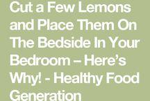 Lemons in bedroom