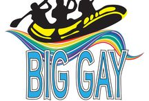 Big Gay Raft Trip / Whitewater Rafting, LLC loves to host large rafting parties. Big Gay Raft Trip, has become a tradition every summer. What could be more fun than 100 gay guys on the river at one time?