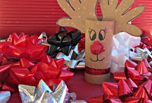 Christmas crafts / Red nose reindeer / by Heather Shipbaugh