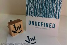 Undefined hand carved stamps / by Mary Ellen (M.E.) Stites~Create With M.E.