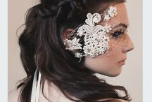 Weddings: Headpieces / Pretty Bridal Headdresses and Adornments for Whimsical loving Brides.