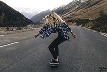 chicas en patineta