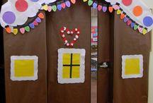 christmas door classroom