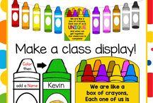 Classroom: Kindergarten bulletin boards
