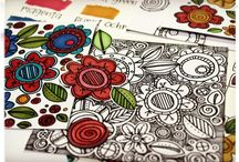 Doodles & Color Pages / by Lori Allred {allreddesign.net}