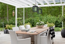 Covered verandah / Great idea for covering our verandah while still letting in plenty of light.