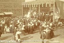 Early cinema exhibitors / Early cinema bioscopes at funfairs, fairgrounds
