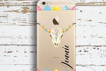 Clear iPhone cases. Personalized with your name or monogram / Clear iPhone cases with design.  Monogrammed just for  you.  Fit iPhone 5/5s, 6/6s, 7/8, X, SE, Plus
