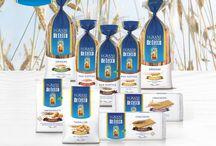 La linea I Grani De Cecco / La qualità De Cecco la ritrovi nei sostitutivi del pane. Solo olio extravergine di oliva!