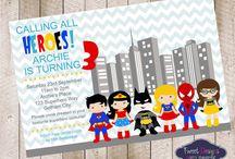 Bithday SUPER HEROES