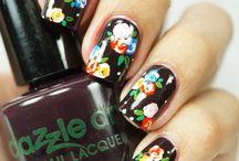 Nail art *flowers&butterflies*