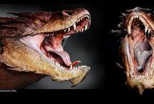 Hobbit concept / Gorgeous Smaug concept art