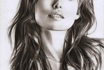 Portrait drawings & paintings