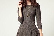 vestidos em tricô