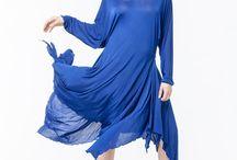АГ_011Платье симметричное ярко-синее