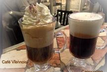 Café viennois et capuccino
