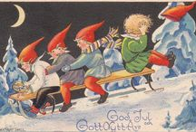 Old christmas cards, gamla julkort, vanhat joulukortit