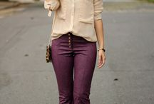 calça roxa